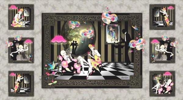 Dance and Romance elegante Paare Panel