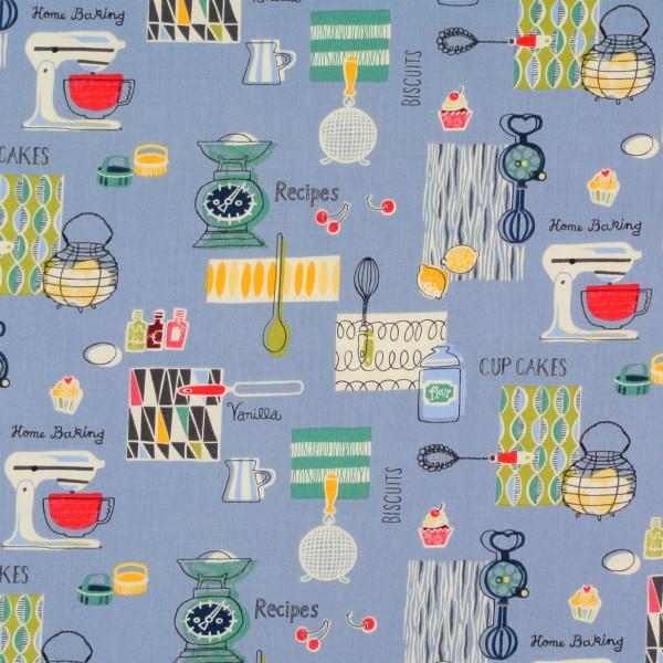 Retro Küche Backgeräte blau