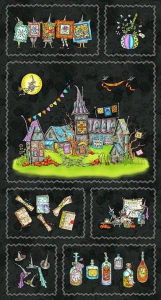 Halloween Hexen Salem Quilt Show Panel
