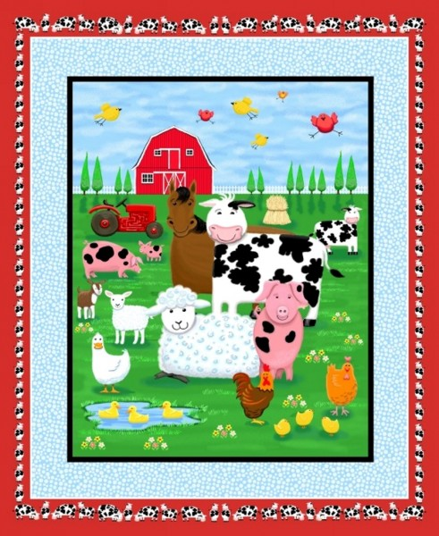 Farm Life Tiere grosses Panel 90 cm