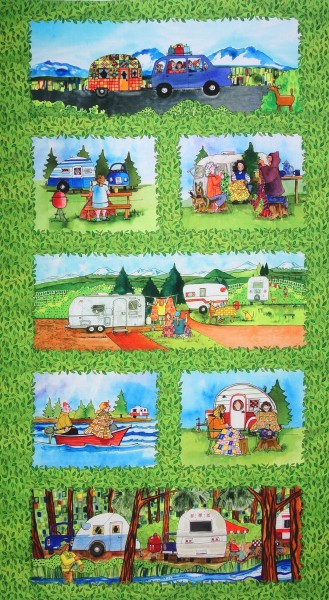 Urlaub Quilters Road Trip Panel
