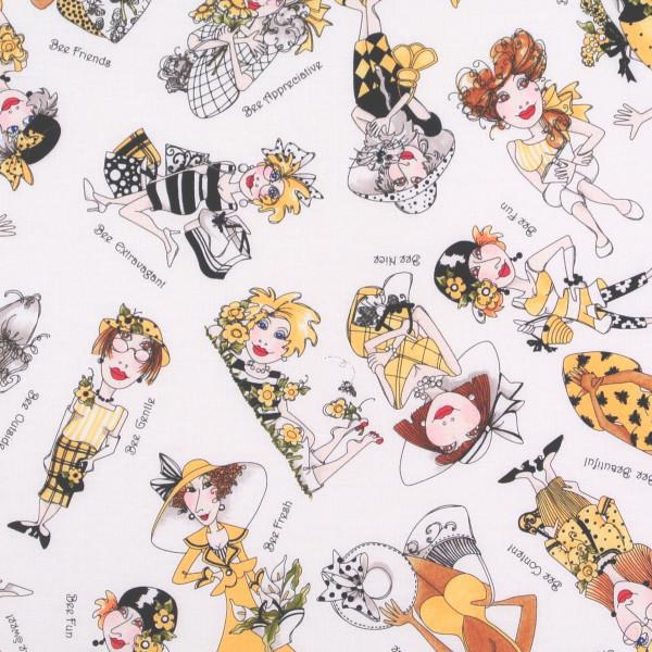 Loralie Bee Happy Frauen auf Weiss
