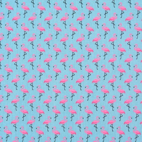 Dekostoff Flamingos türkis