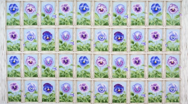 Stiefmütterchen Pretty Pansy Panel •