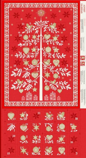 SALE Adventskalender DIY Scandi Baum rot