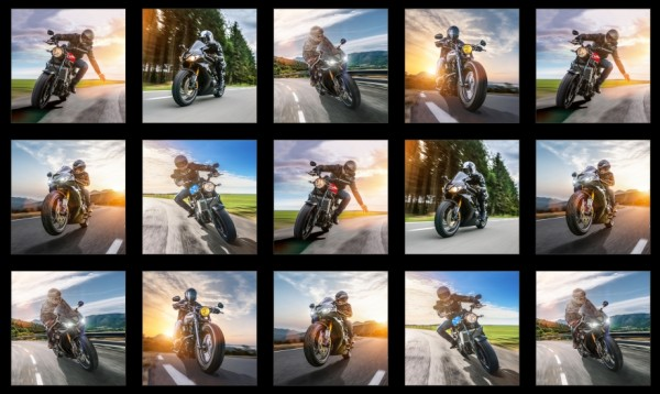 """Motorräder Patchworkstoffe Männer """"Dream Ride"""" Panel"""
