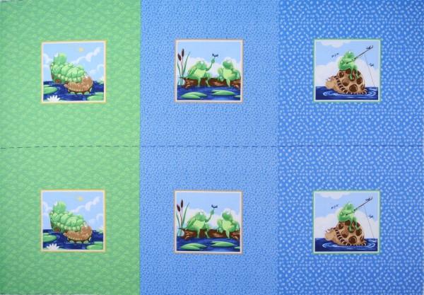 Susybee Schildkröten Frösche Panel 75 cm