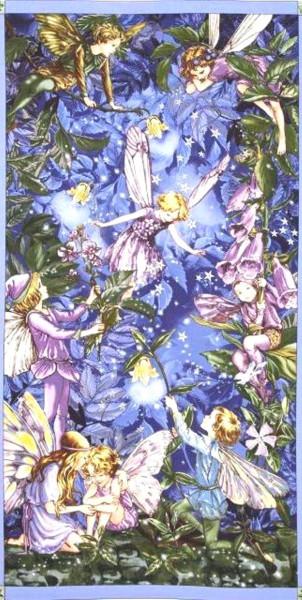 Flower Fairies Nacht Elfen grosses Panel