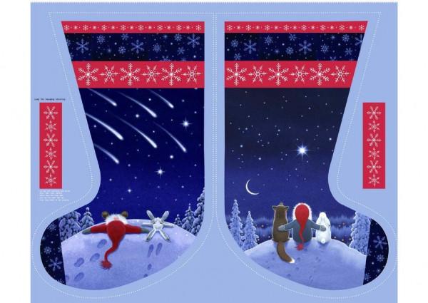 patchworkstoff weihnachten tomte keep believing stiefel diy panel 110