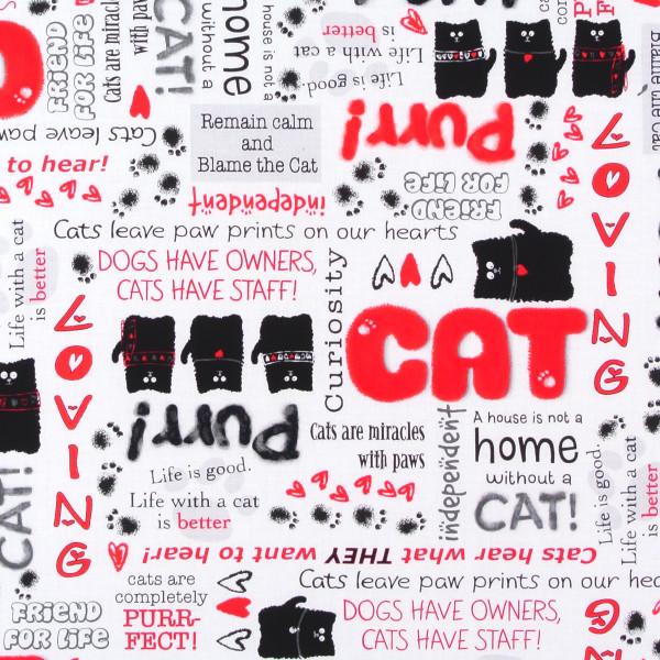 0,60 m Smudgy Cats Katzen und Sprüche