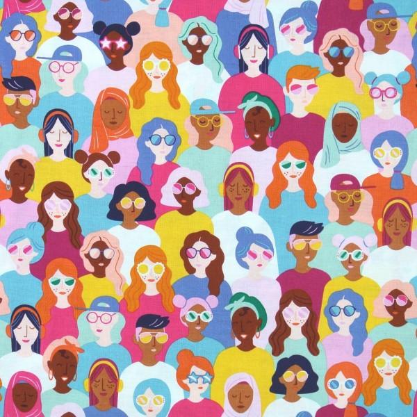 Patchworkstoff Frauen Mädchen aus aller Welt Girl Power
