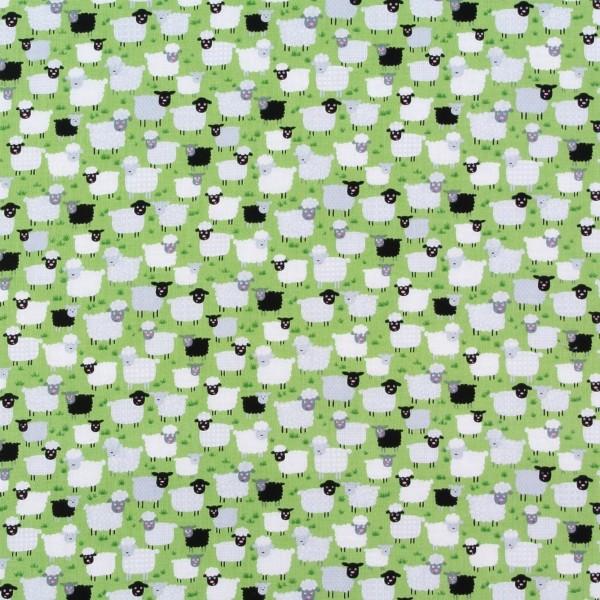 Patchworkstoff Schafe Schäfchen Bauernhof Tiere