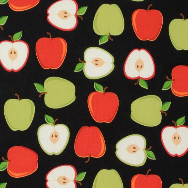 Metro Market Äpfel auf Schwarz