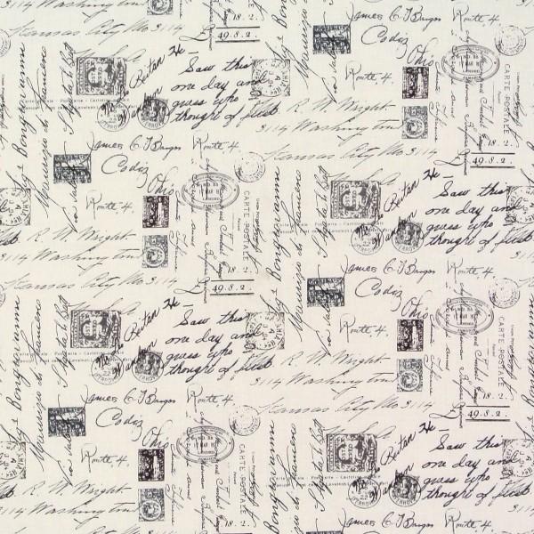SALE Patchworkstoff April in Paris nostalgische Schrift