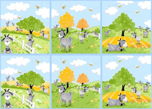 Susybee Hildy witzige Ziegen Bilder Panel