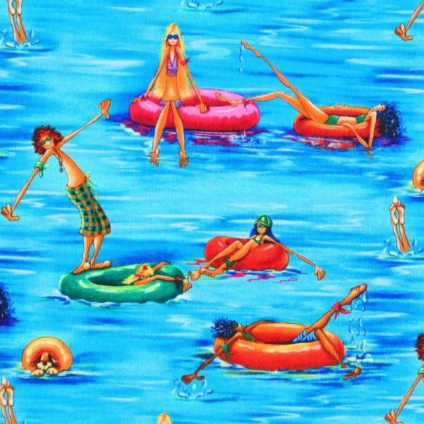 Einzelstück Summertime Wasserratten & Gummiboote 40 cm •