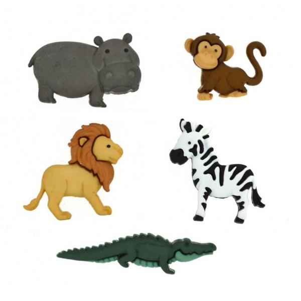 Motivknöpfe Dekoknöpfe wilde Tiere