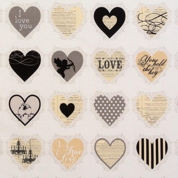 Love Liebe Herzen Love Hearts schwarz