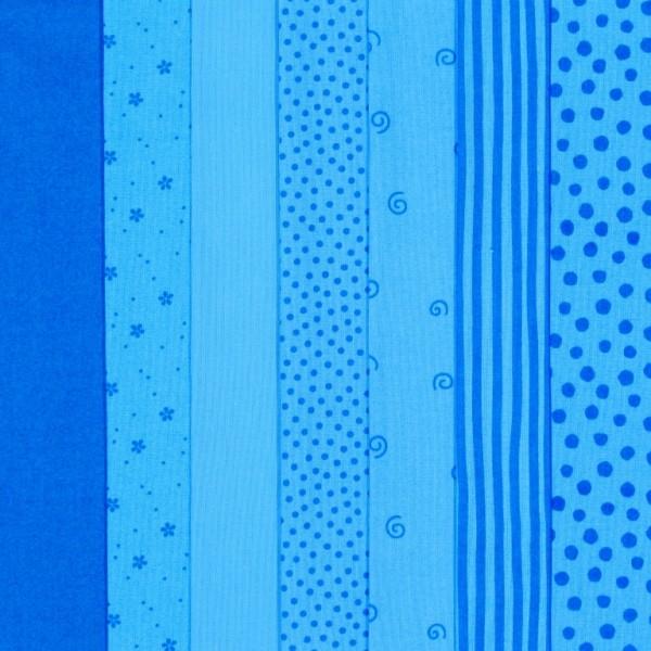 Westfalenstoff Stoffpaket Junge Linie Blau