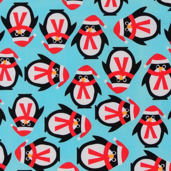 SALE Weihnachten Pinguine Ann Kelle Jingle hellblau