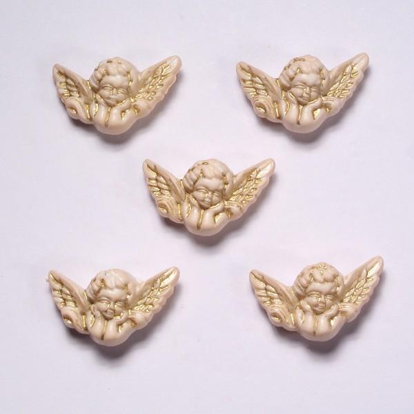 Motivknöpfe 6 Dekoknöpfe romantische Engel