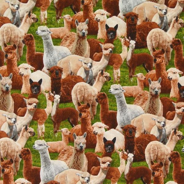 """Patchworkstoff Lama Lamas Tiere """"Farm Animals"""""""