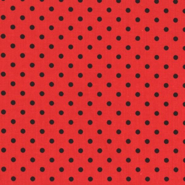 Patchworkstoff Kombistoff Punkte Dots auf Rot