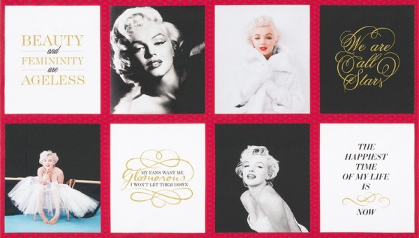 Hollywood Marilyn Monroe Patchwork Panel*
