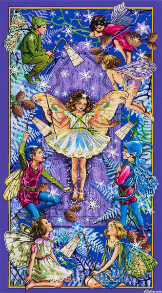 Flower Fairies Elfen Enchanted Panel