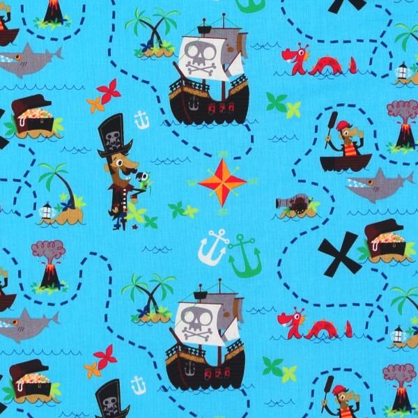 Pirate´s Journal Piraten Schatzkisten Meerestiere Meer