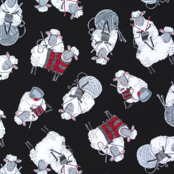 Strickende Schafe Stricken schwarz