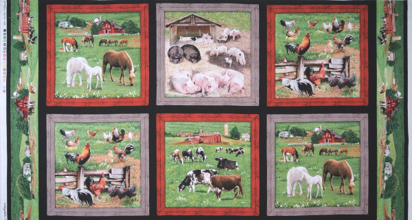 Farm Animals Tiere Panel