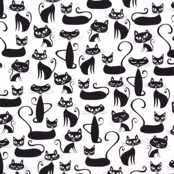 Retro schnurrende Katzen auf Weiss