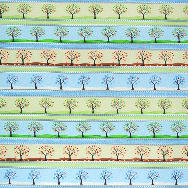Timeless Jahreszeiten Bäume Bordüre