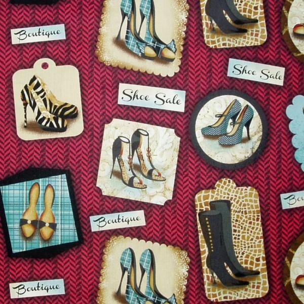 0,30 m Sassy Shoes High Heels Schuhe auf Rot