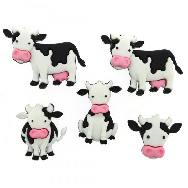 Knöpfe Dekoknöpfe Kühe Tiere