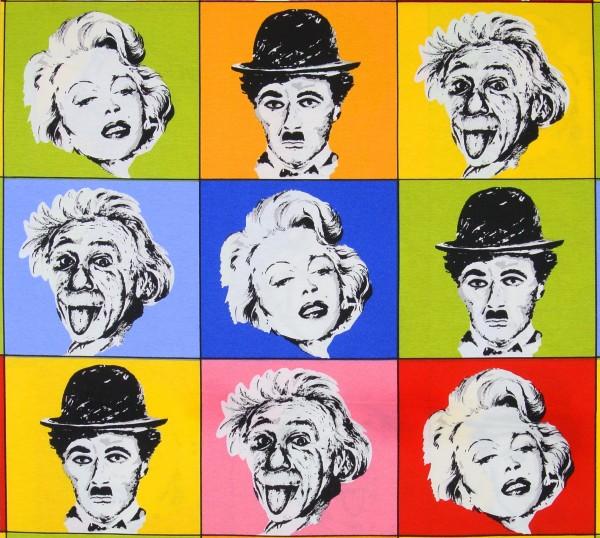 Dekostoff Promis Marilyn Einstein Charlie Chaplin