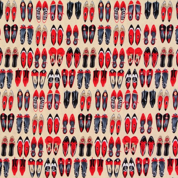 Patchworkstoff Baumwollstoff Shoe Love kleine Schuhe