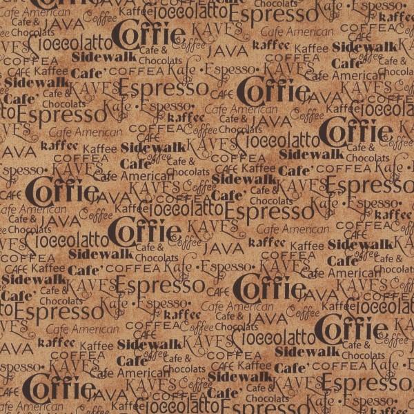 Daily Grind Kaffee Schriftzüge hellbraun