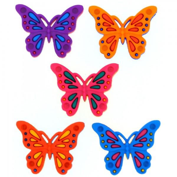 Motivknöpfe Knöpfe Dekoknöpfe Schmetterlinge