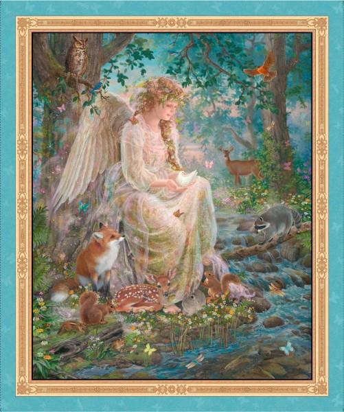 Romantischer Engel Tiere Panel