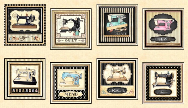 Thimble Pleasures Vintage Nähmaschinen Panel
