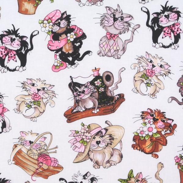 Loralie Katzen Fancy Cats weiss •