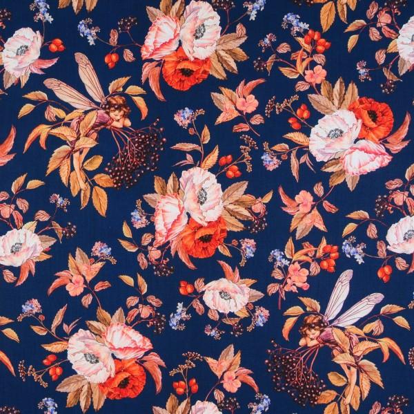 Elfen Flower Fairies Elderberry Fairies dunkelblau