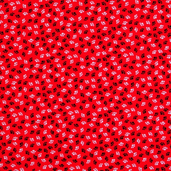 A Cats Meow Pfoten auf Rot