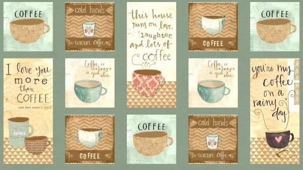 But First Coffee Kaffee Panel