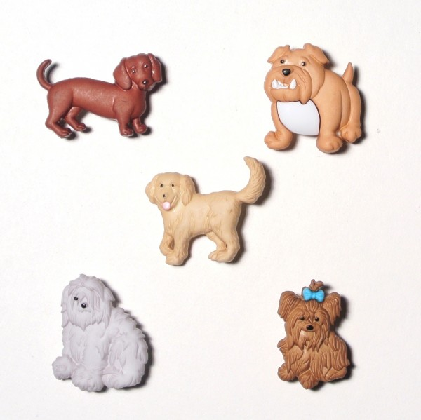 Knöpfe Hund Hunde Rassehunde