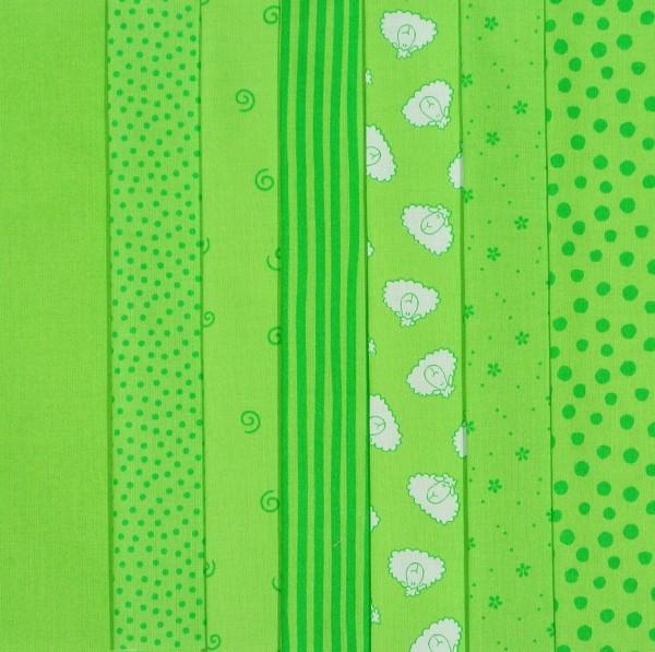 Westfalenstoff Stoffpaket Junge Linie Grün