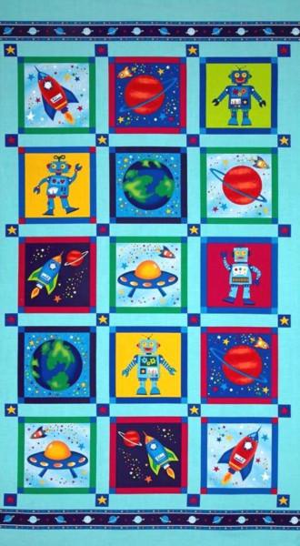 Raumfahrt Astronauten Roboter Planeten Panel 60 cm
