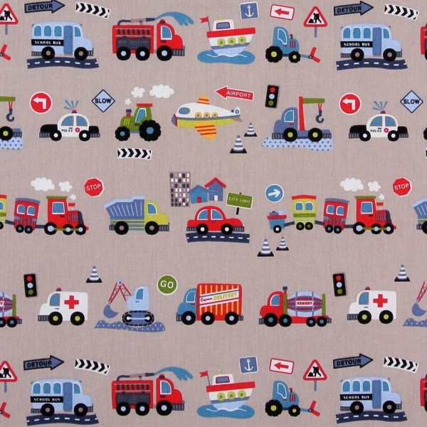 Baumwollstoff Kinderstoff Autos Fahrzeuge